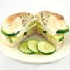 Cucumber Cream Cheese Bagel