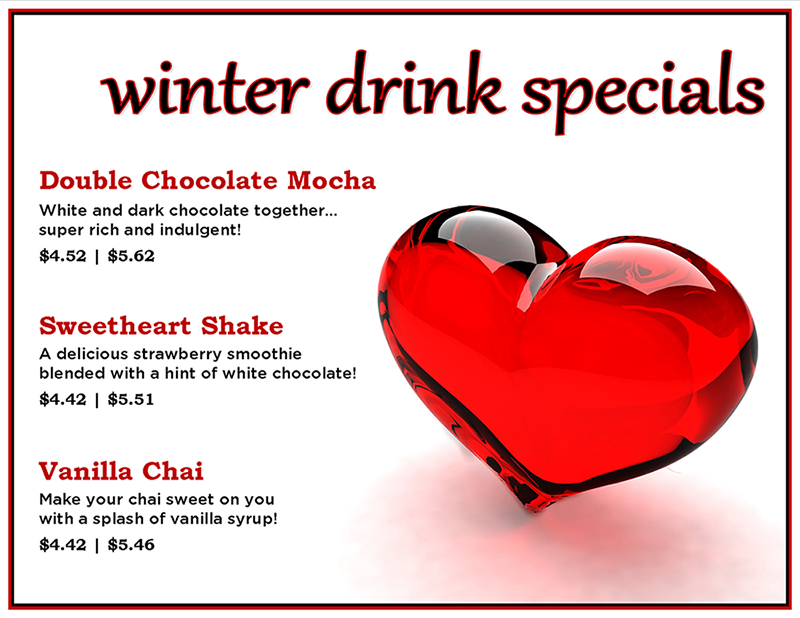Winter Drink Specials