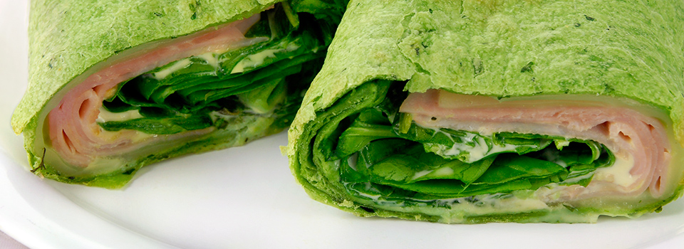 Ham and Spinach Aioli Wrap
